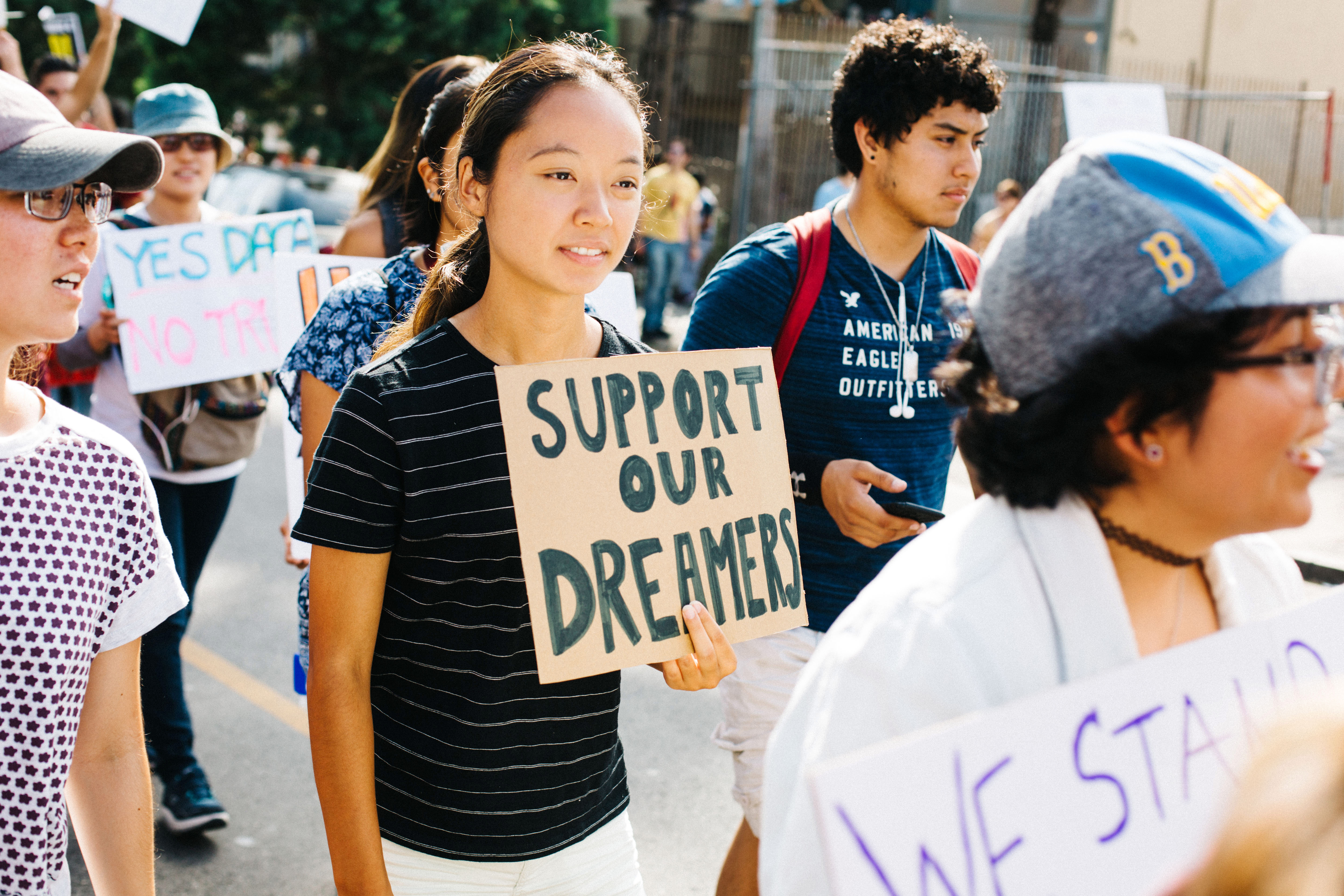 Girl at DACA protest